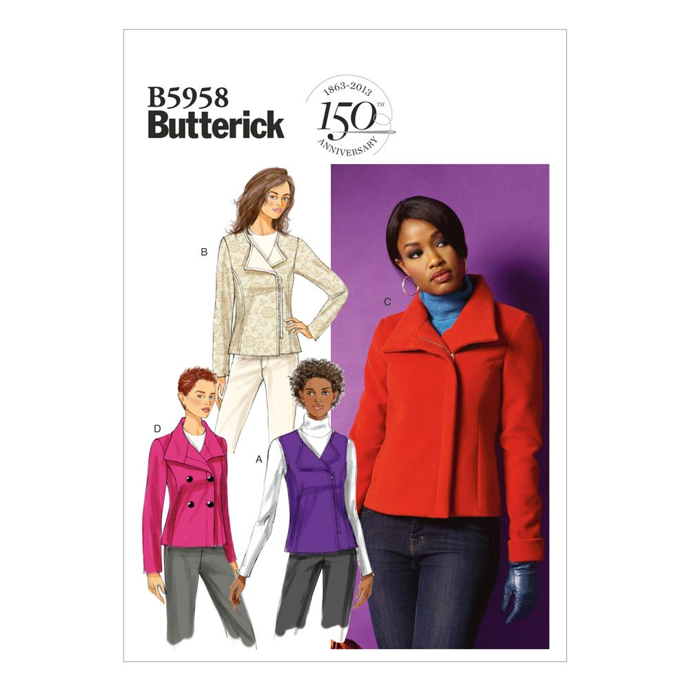 Butterick Misses' Vest and Jacket Pattern B5958 Size