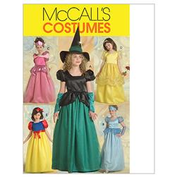McCall's Children's/Girls' Princess and Witch Costumes Pattern