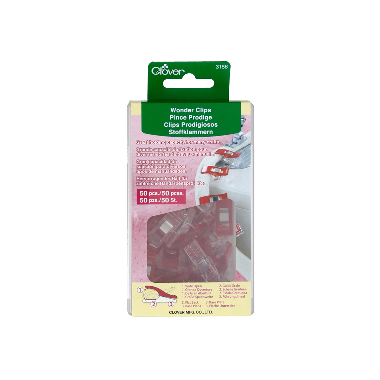 Clover Wonder Clips Pkg of 50 0334099