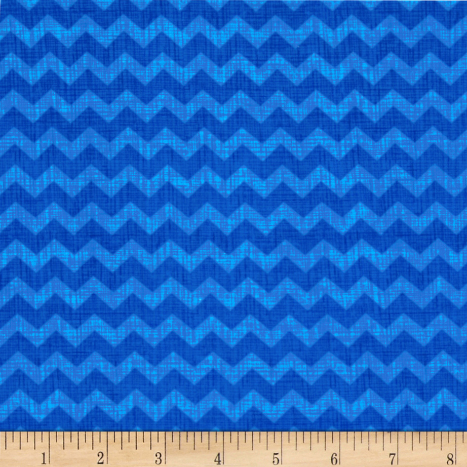 Timeless Treasures Ziggy Small Chevron Royal Blue