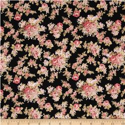 World of Romance Small Floral Bouquet Black Fabric
