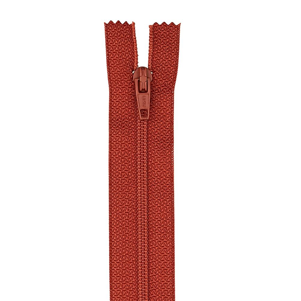 "Coats & Clark Polyester All Purpose Zipper 14"" Rust"