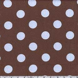 Charmeuse Satin Jumbo Dot Brown/Blue
