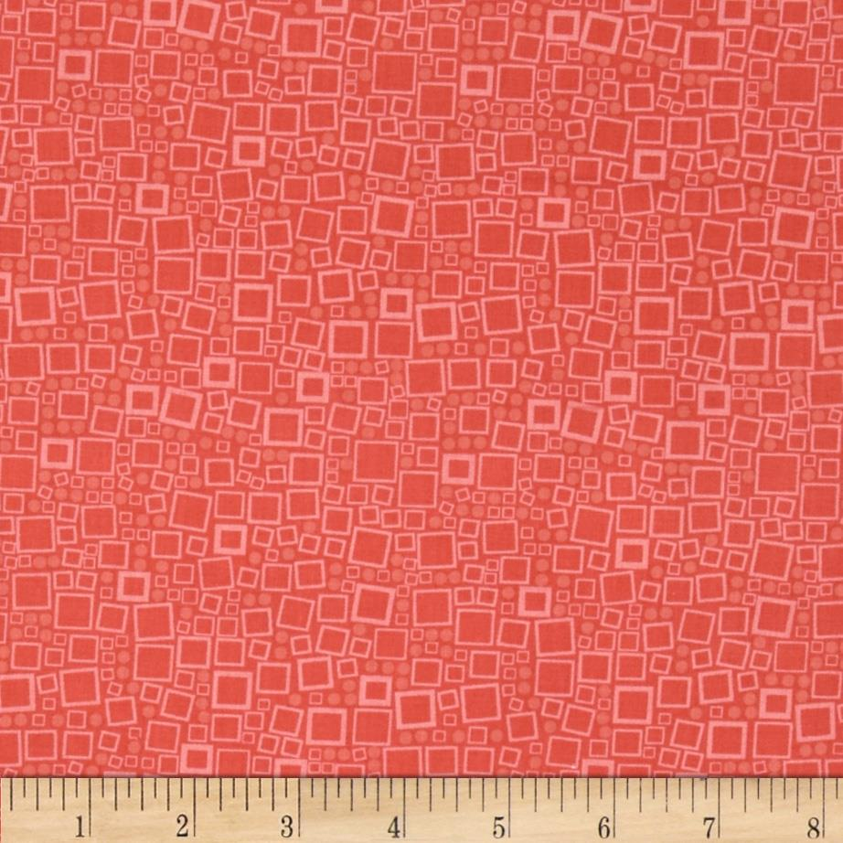 Poppy Panache Squares & Dots Light Orange