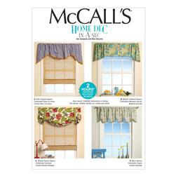 McCall's Window Treatments Pattern M7034 Size OSZ