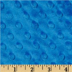 Minky Cuddle Dimple Dot Peacock Fabric