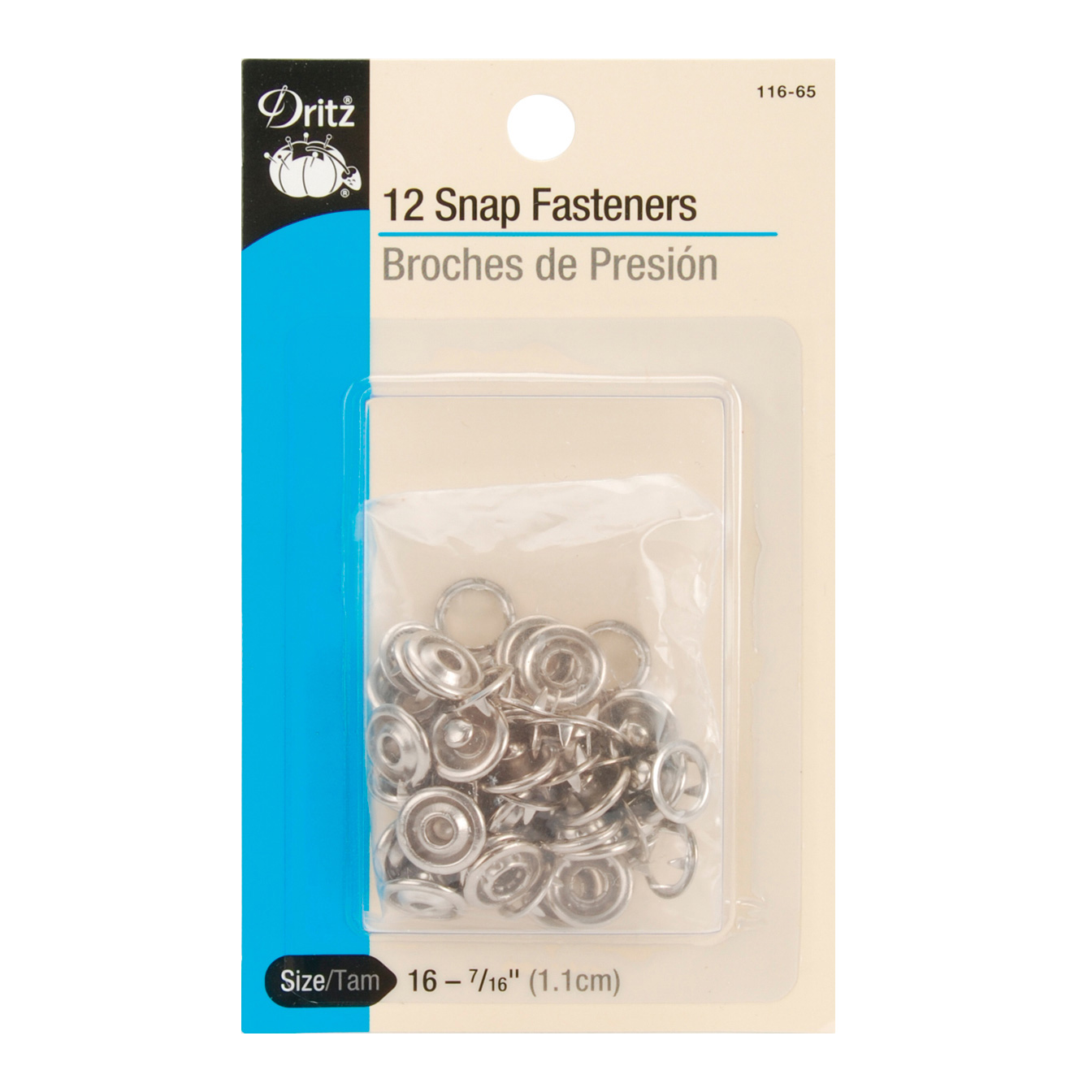 Dritz Gripper Snaps 7/16'' Nickel by Notions Marketing in USA