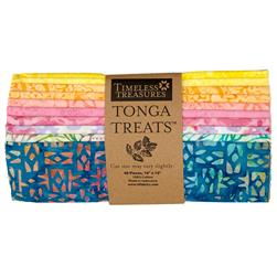 "Timeless Treasures Tonga Batik 10"" Square Packs"