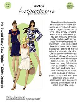 No Sweat Easy Sew Triple T-Shirt Dresses Pattern