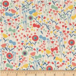 Kaufman London Calling Lawn Flower Buds Park Fabric