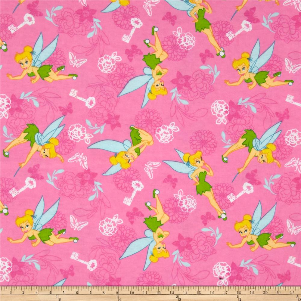 Disney Tinkerbell Traditional Flannel Tink Key & Butterfly Pink