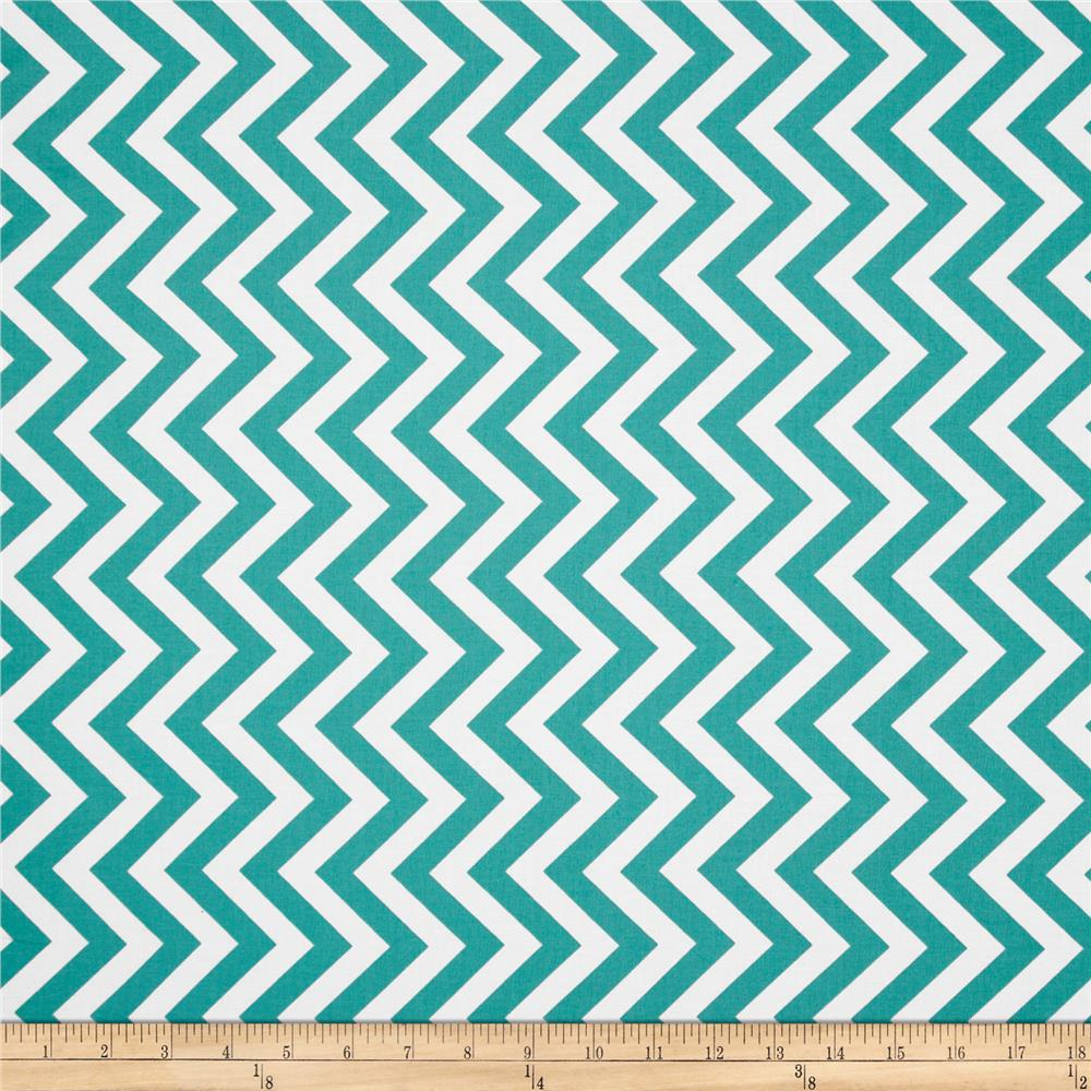 Moda half moon modern medium zig zag aqua discount for Fabric pattern