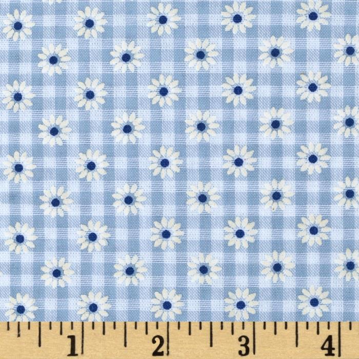 Woven 1/8 Daisy Gingham Blue