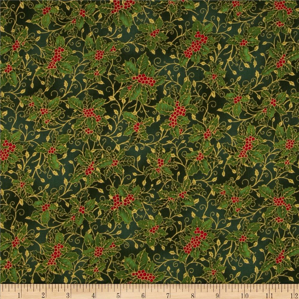 Holiday Accents Classics 2013 Metallic Holly Green