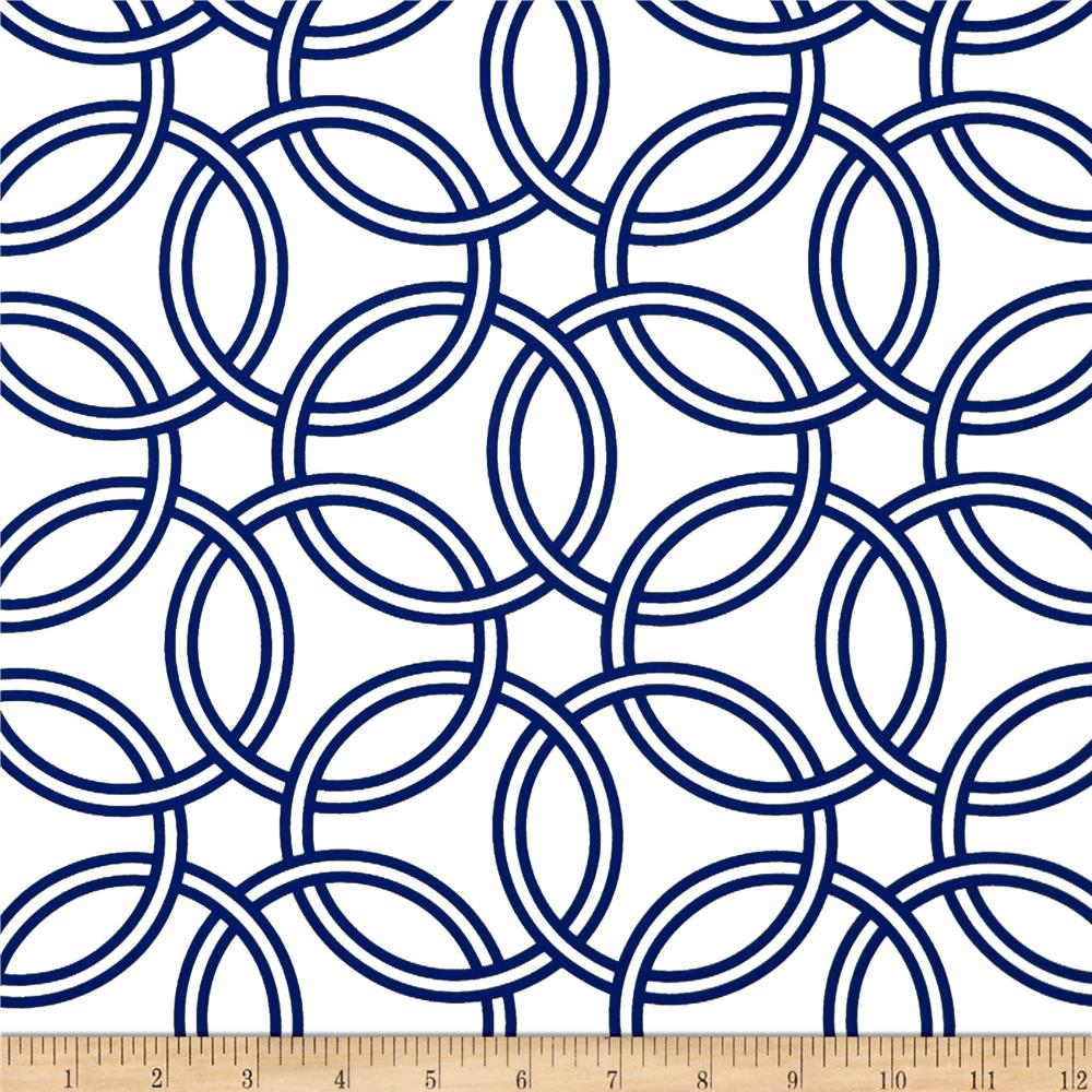 Michael Miller Bekko Home Decor Swirl Midnight Blue