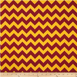 Riley Blake Wide Cut Chevron Medium Maroon/Gold