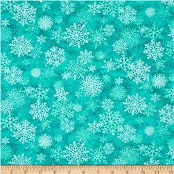Mistletoe Metallic Snow Flake Teal