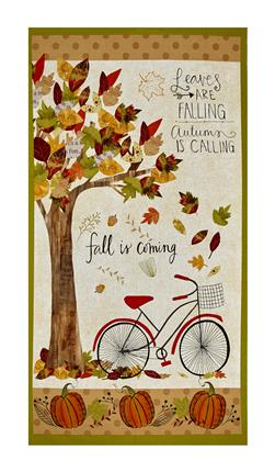 "Autumn Road Large 23"" Panel Multi"