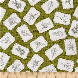 Winter Song Sewn Patches Green