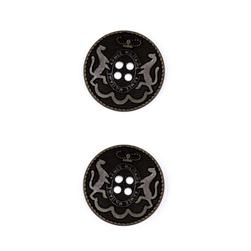 Metal Button 7/8'' Armee Militare Black Metal