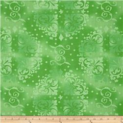 "108"" Quilt Back Tonal Medallion Lime"