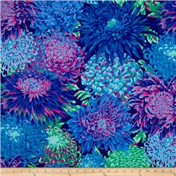 Kaffe Fassett Collective Japanese Chrysanthemum Blue