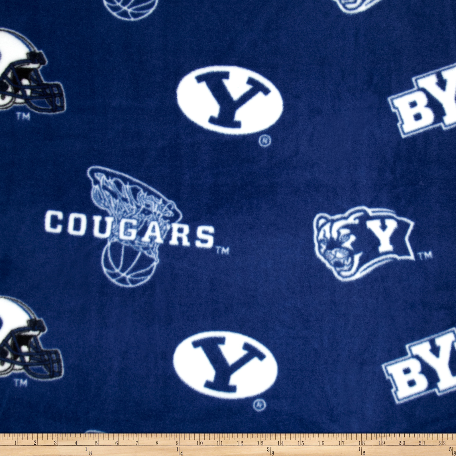 Collegiate Fleece BYU Fabric