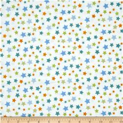 Le Elephant Flannel Star White