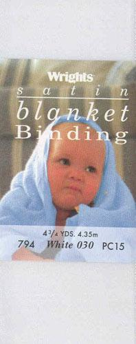 "2"" Satin Blanket Binding White"