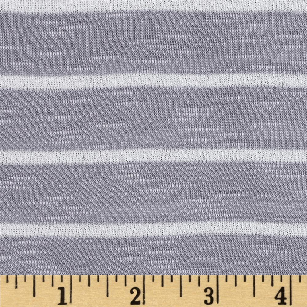 Designer Yarn Dyed Slub Rib Knit Grey/White