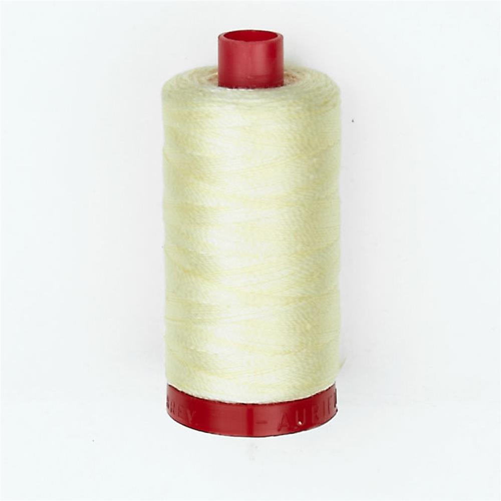 Aurifil 12wt Embellishment and Sashiko Dreams Thread Light Lemon