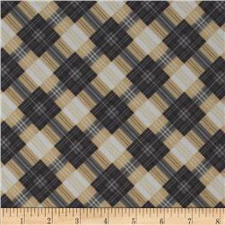 Great Scotts Flannel Mad for Plaid Beige Fabric