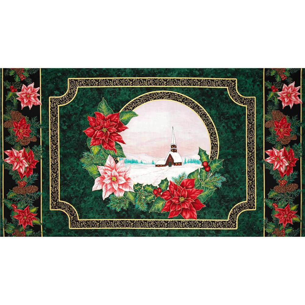 Christmas Morning Metallic 24 In. Panel Multi