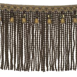 "Fabricut 9"" Mountain Resort Bullion Fringe Oxidized"