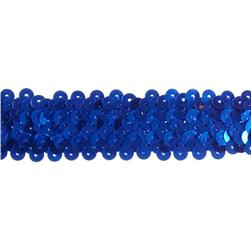 "1 1/4"" Stretch Metallic Sequin Trim Royal"