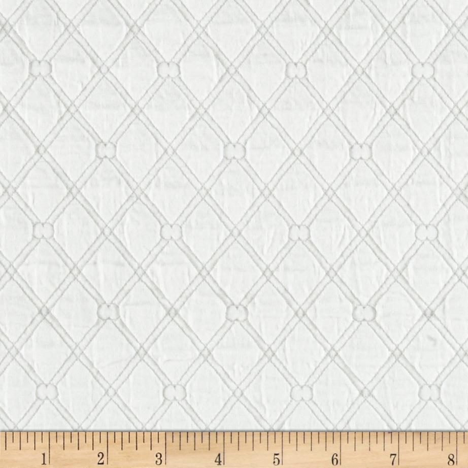 Lattice Quilt Knit White