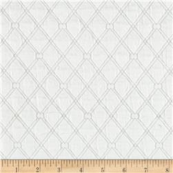 Lattice Quilt Knit White Fabric