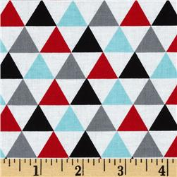 Remix Triangles Celebration Aqua/Red