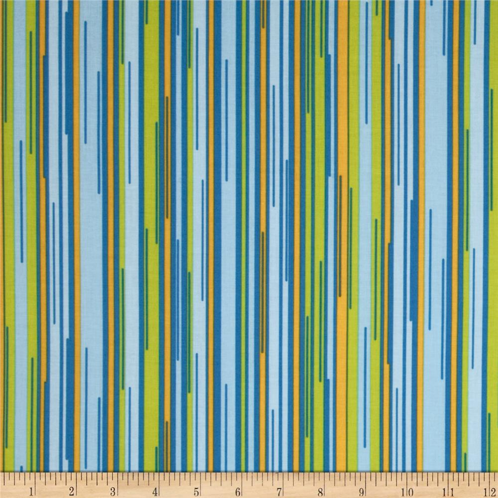 Moda Barcelona Stripes Sky/Multi