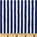 Minky Cuddle Classics Ministripe Midnight/Snow