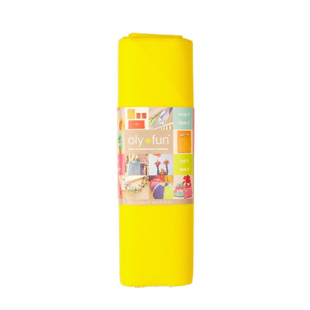 OLYFUN Multi Purpose Craft Fabric Lemon Drop