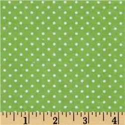 Flannel Dots Green