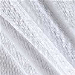 Spandex Stretch Illusion Shaper Mesh White