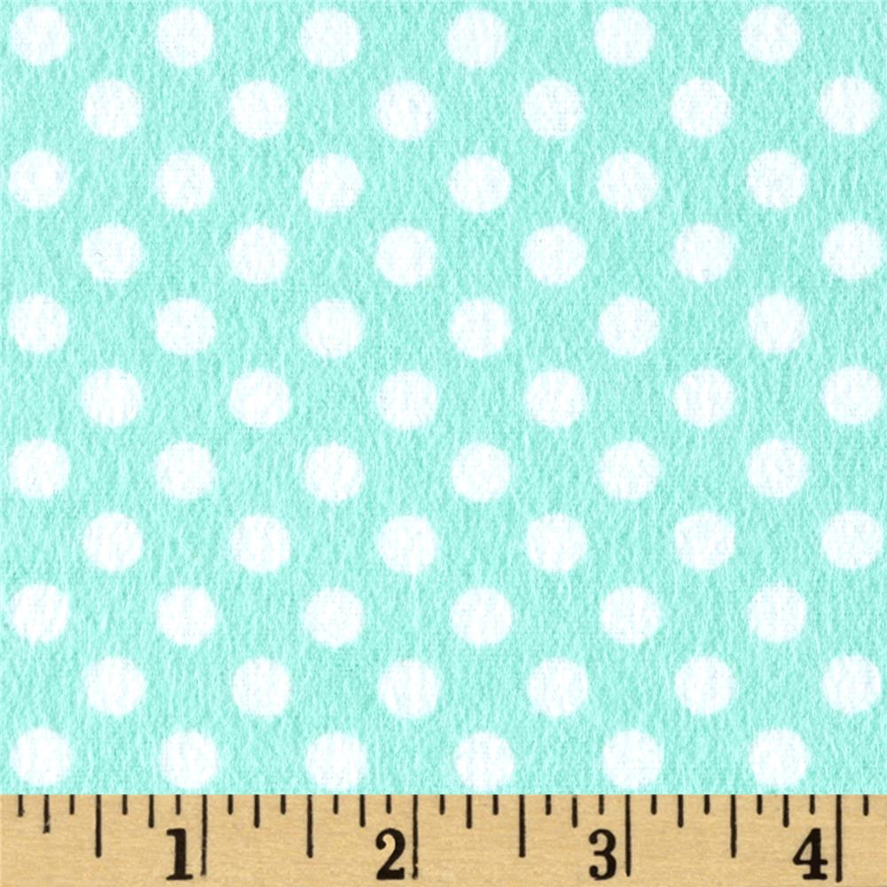 Flannel Polka Dots Peppermint