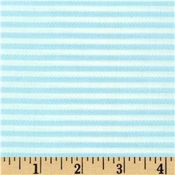 Animal ABCs Small Stripe Organic Cotton Light Blue