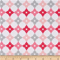 Kaufman Cozy Cotton Flannel Geo Plaid Pink