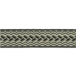 "1 1/2"" Woven Home Decor Geometric Trim Black"