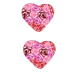 Lisa Pavelka Novelty Clay Button 1'' Swirl Heart