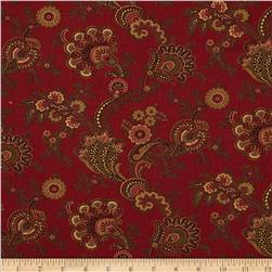 Moda Collections for a Cause Mill Book 1892 Flourish Red