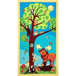 Forest Friends Panel Multi Fabric